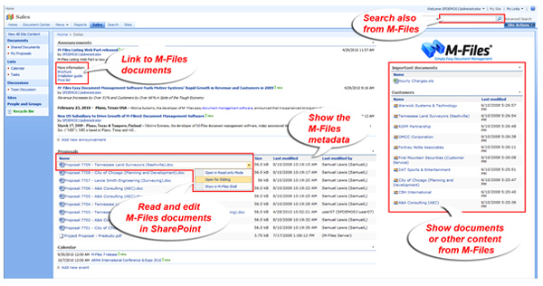 Система M-Files for SharePoint